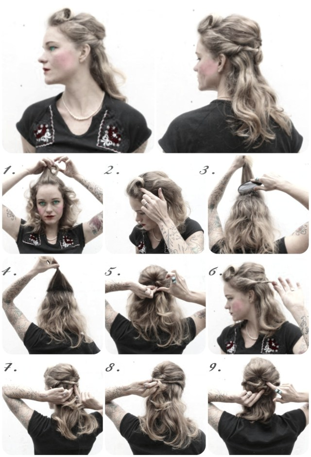 1940s hairstyles for long hair - madame friisuren | madame