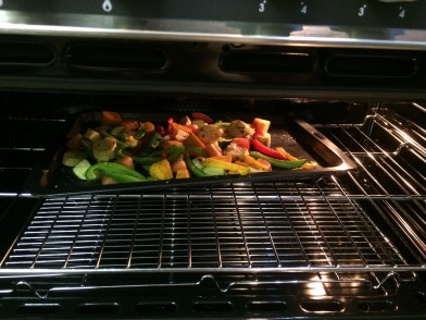 The Roasted Veggies In The Oven