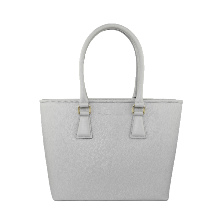 madamemattey-clio-grey-medium-front-leather-tote-bag