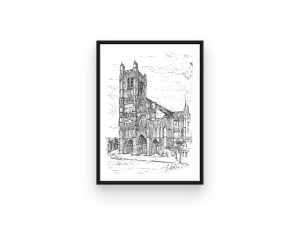 auxerre cathedral print