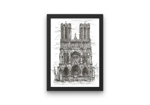 Reims Cathedral print