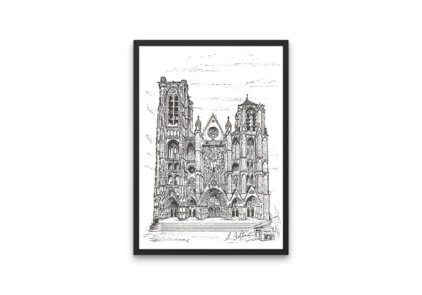 Bourges Cathedral print