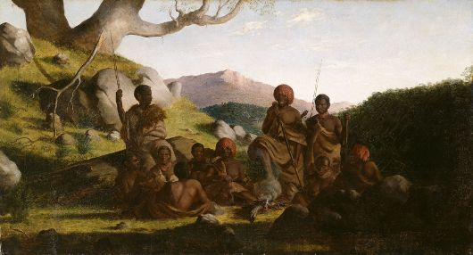 ---Robert Dowling, Tasmanian Aborigines 1856–57, National Gallery of Victoria, Melbourne Purchased 1949---click image for source...
