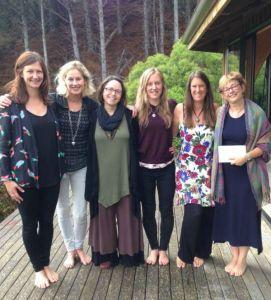Kristy Arbon HeartWorks MSC women at Mana Retreat Centre, Coromandel, New Zealand