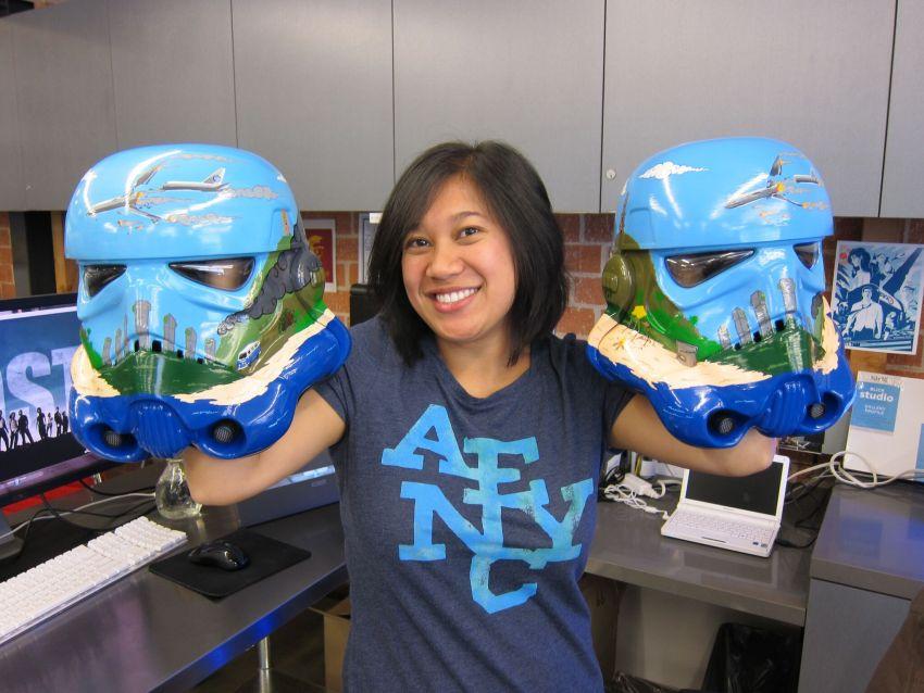 Amy Vatanakul Artist Painted Star Wars Helmets
