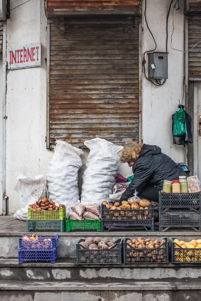 le marché de borjomi, georgie
