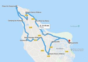 Itinéraire à vélo sur l'île d'Oléron - une journée