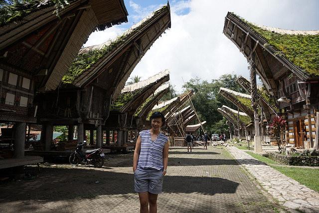 Rumah Toraja yang Hadap-hadapan (istilah madam)