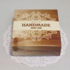 "Коробочка «Handmade сделано с душой"" 7,7*8 см"