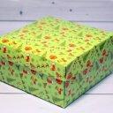 Коробка Новый год, зеленая