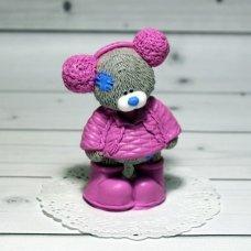 Мыло ручной работы Мишка Тедди в меховых наушниках