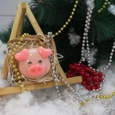 Мыло Свинка ушки сердечками в коробке