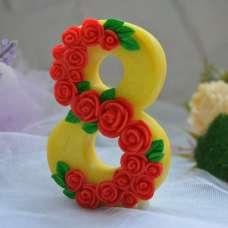 8 марта розы Силикон 3Д