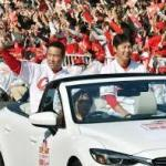 広島カープ優勝パレード沿道には31万余の熱い声援と感謝