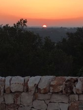 sunset view from trullo