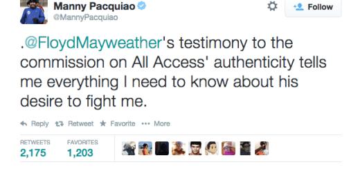 Manny Pacquiao Mocks Floyd Mayweather