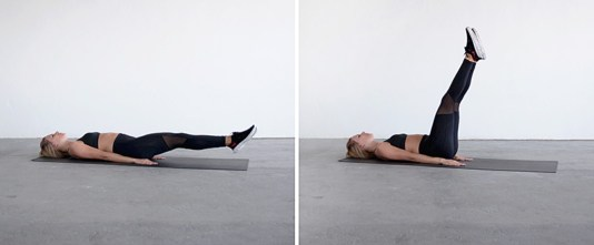 Image result for Leg lift for lower abdominal muscles workout