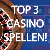 Top 3 meest gespeelde casino gokspellen