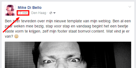Facebook embed op blog