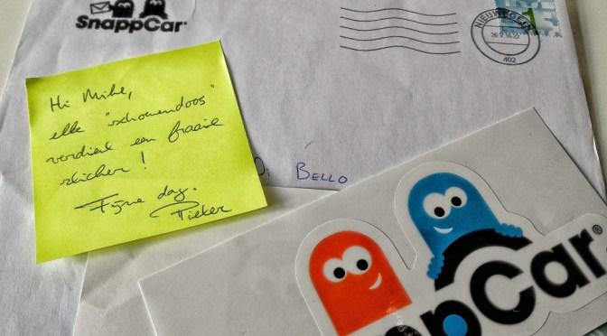 Handgeschreven Brief van SnappCar Ontvangen