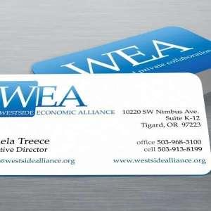 Westside Economic Alliance Logo business cards
