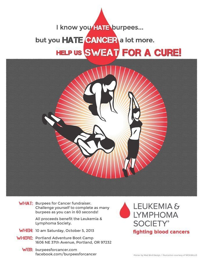 Burpees for Cancer poster