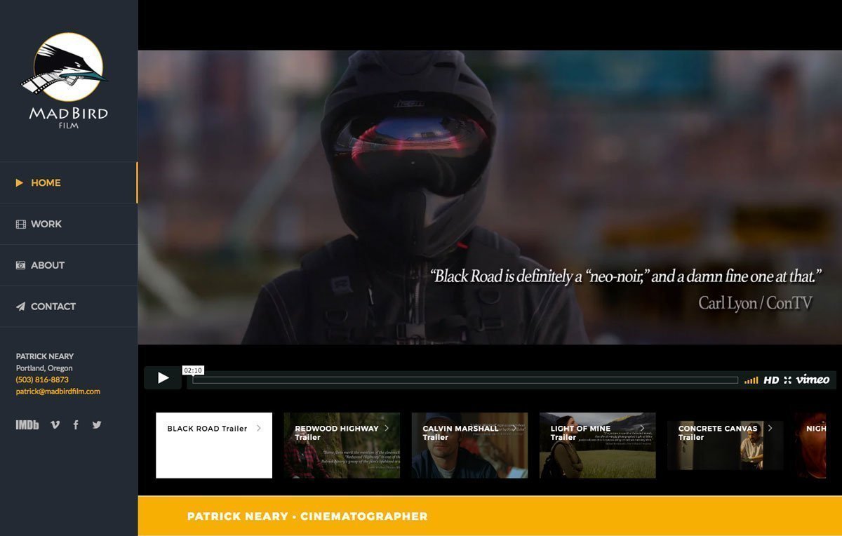 Mad Bird Film website