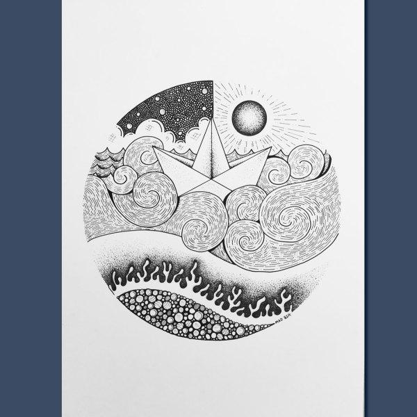 dessin MAD BHZ pièce unique BZH breizh Morbihan