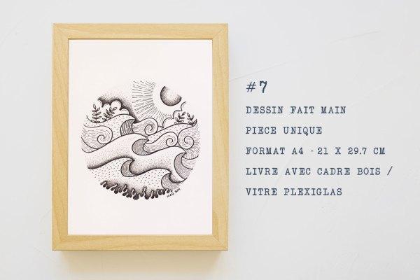 MAD BZH vous presente ses illustrations en pieces uniques rond