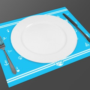 SET DE TABLE MAD BZH MAREE BLEU