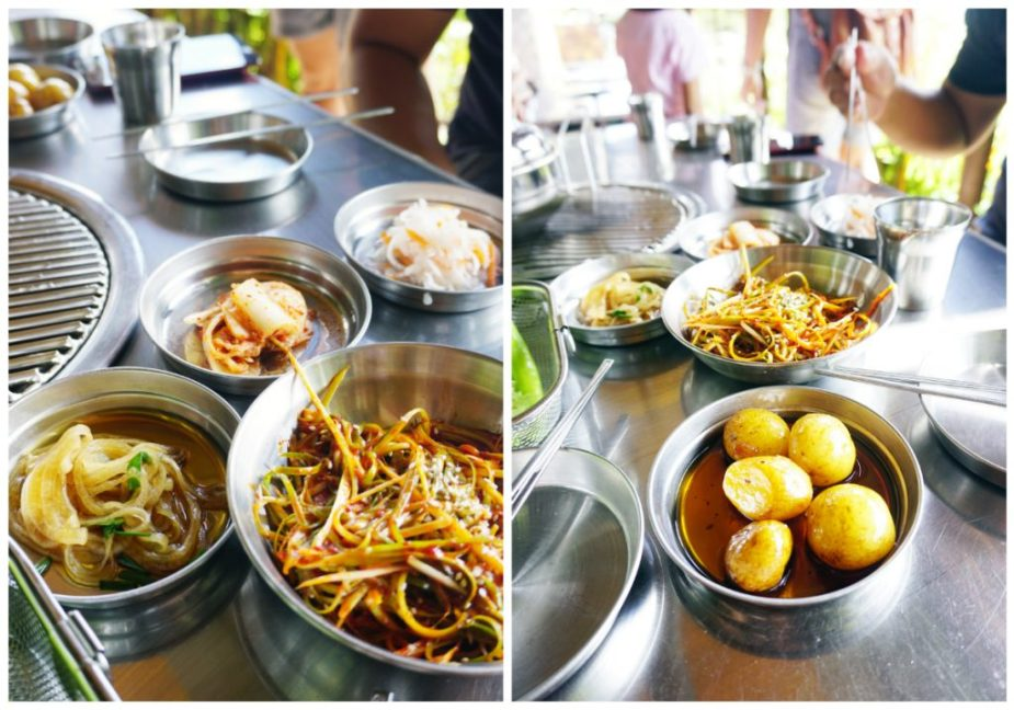Some of the side dishes offered at Samgyupsalamat Tagaytay.