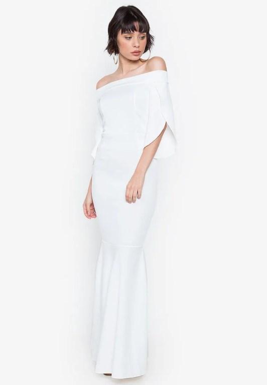 cheap wedding dresses philippines hug dana off shoulder tulip dress 1