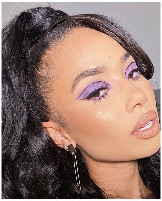 purple makeup looks for the eyes