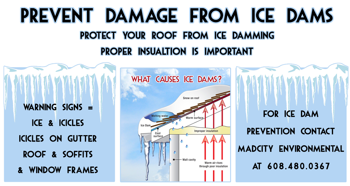Ice Dam Prevention, Madison Wisconsin