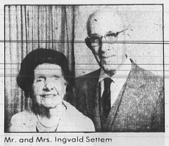 Georgia and Ingvald Settem