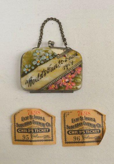 souvenir purse and railway tickets