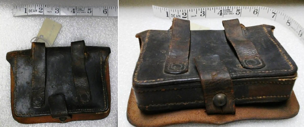 leather cartridge box