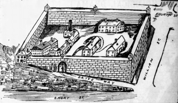 drawing of Alton Prison