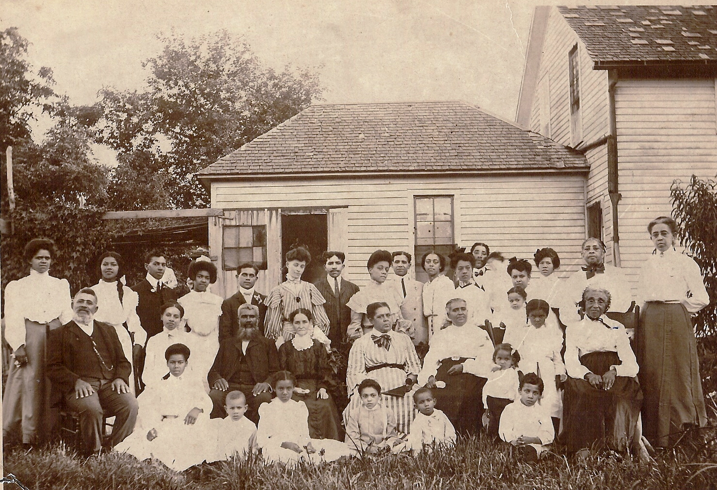 Johnson family reunion photo