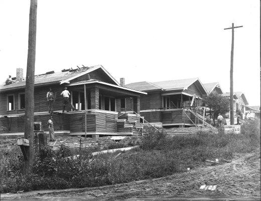 Hancock House construction