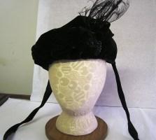Black velvet bonnet