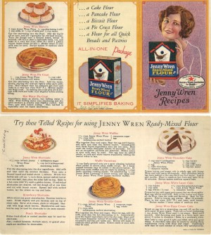 Jenny Wren Recipes leaflet