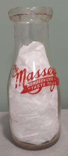 Massey milk bottle