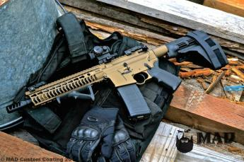 AR15 Pistol in Cerakote Burnt Bronze & Micro Slick