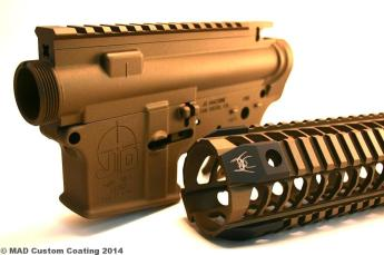 JD AR15 set & Spikes's Tactical Rail in Cerakote Burnt Bronze