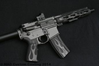 AR15 in Cerakote Tungsten & Graphite Black w/ Flames