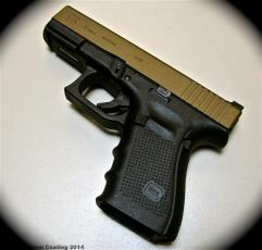 Glock 19 Gen4 in Cerakote Burnt Bronze