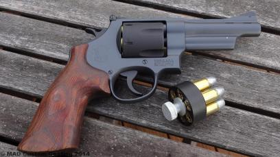 Smith & Wesson 45 Colt Revolver in Cerakote Sniper Grey and Armor Black