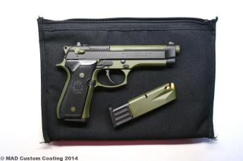 Beretta 92 in Cerakote OD Green & Graphite Black