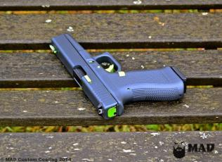 Glock 17 in Cerakote Sniper Grey & Zombie Green